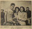 Jacques Bébengut podium Course Bordeaux-Saintes 1949 (photo Sud-Ouest)