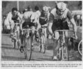 Christian Marais course Bordeaux Saintes Cycliste 1980 (photo Sud Ouest)