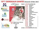 Affiche Bordeaux-Saintes 2013