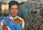 Podium de Pascal Deramé course Bordeaux-Saintes 1993 (photo Sud-Ouest)