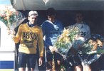 Podium de Gérard Simonnot course Bordeaux-Saintes 1989