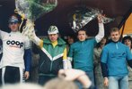 Podium de Marek Swiniarski course Bordeaux-Saintes cycliste 1992