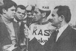 Podium de Grégorio San Miguel course Bordeaux-Saintes 1968 (Photo Sud-Ouest)