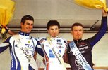 Podium Yoann Bagot course Bordeaux-Saintes 2009 (photo JPB)
