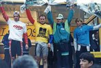 Podium de Sylvain Bolay course Bordeaux-Saintes cycliste 1991