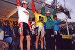 Podium de Sylvain Bolay course Bordeaux-Saintes 1991